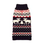 View Image 1 of Navy Fairisle Turtleneck Dog Sweater by fabdog®