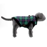 View Image 6 of Fashion Bomber Check Dog Vest by Gooby - Green