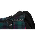 View Image 3 of Fashion Bomber Check Dog Vest by Gooby - Green