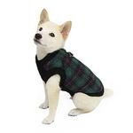 View Image 5 of Fashion Bomber Check Dog Vest by Gooby - Green
