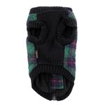 View Image 7 of Fashion Bomber Check Dog Vest by Gooby - Green
