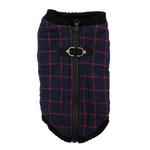 View Image 7 of Fashion Bomber Check Dog Vest by Gooby - Navy