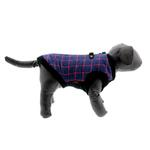 View Image 5 of Fashion Bomber Check Dog Vest by Gooby - Navy