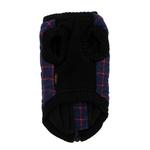 View Image 6 of Fashion Bomber Check Dog Vest by Gooby - Navy