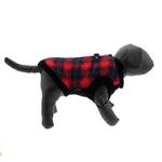 View Image 5 of Fashion Bomber Check Dog Vest by Gooby - Red