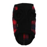 View Image 6 of Fashion Bomber Check Dog Vest by Gooby - Red