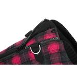 View Image 3 of Fashion Bomber Check Dog Vest by Gooby - Red
