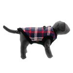 View Image 1 of Fashion Bomber Check Dog Vest by Gooby - White