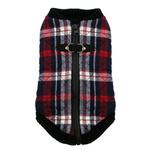 View Image 3 of Fashion Bomber Check Dog Vest by Gooby - White