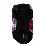 View Image 2 of Fashion Bomber Check Dog Vest by Gooby - White