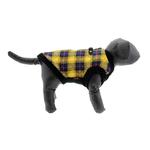 View Image 3 of Fashion Bomber Check Dog Vest by Gooby - Yellow