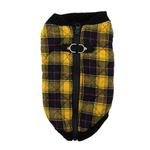 View Image 1 of Fashion Bomber Check Dog Vest by Gooby - Yellow