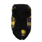 View Image 2 of Fashion Bomber Check Dog Vest by Gooby - Yellow
