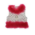 View Image 2 of Fashion Diva Dog Harness by Cha-Cha Couture - White & Hot Pink