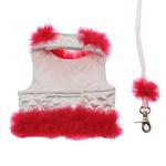 View Image 3 of Fashion Diva Dog Harness by Cha-Cha Couture - White & Hot Pink