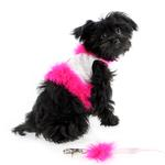 View Image 1 of Fashion Diva Dog Harness by Cha-Cha Couture - White & Hot Pink