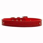 View Image 1 of Faux Crocodile Two Tiered Dog Collar with 10MM Letter Strap - Red