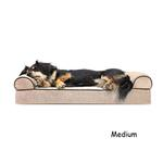 View Image 1 of FurHaven Faux Fleece & Chenille Soft Woven Orthopedic Sofa Dog Bed - Cream