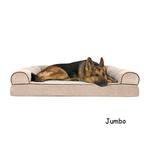 View Image 4 of FurHaven Faux Fleece & Chenille Soft Woven Orthopedic Sofa Dog Bed - Cream