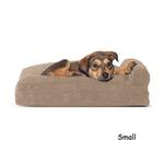 View Image 1 of FurHaven Faux Fleece & Corduroy Chaise Lounge Pillow Sofa-Style Dog Bed - Sandstone