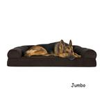 View Image 4 of FurHaven Faux Fleece & Chenille Soft Woven Orthopedic Sofa Dog Bed - Coffee