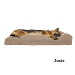 View Image 4 of FurHaven Faux Fleece & Corduroy Chaise Lounge Pillow Sofa-Style Dog Bed - Sandstone