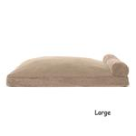 View Image 3 of FurHaven Faux Fleece & Corduroy Chaise Lounge Pillow Sofa-Style Dog Bed - Sandstone