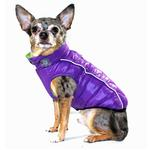 View Image 2 of Featherlite Reversible-Reflective Puffer Dog Vest by Hip Doggie - Green/Purple