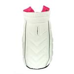 View Image 6 of Featherlite Reversible-Reflective Puffer Vest by Hip Doggie - Pink/White
