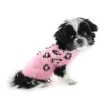 View Image 1 of Feathersoft Cheetah Dog Sweater by Hip Doggie - Pink