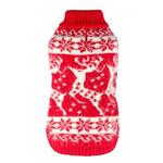 View Image 3 of Feathersoft Reindeer Dog Sweater By Hip Doggie