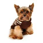 View Image 3 of Feathersoft Zebra Dog Sweater by Hip Doggie