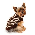 View Image 2 of Feathersoft Zebra Dog Sweater by Hip Doggie