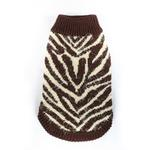 View Image 1 of Feathersoft Zebra Dog Sweater by Hip Doggie