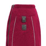 View Image 2 of Fernie Sweater Knit Fleece Dog Jacket by RuffWear - Hibiscus Pink