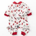 View Image 1 of Firetrucks Dog Pajamas - Cream