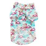 View Image 3 of Flamingo Island Dog Shirt by Dogo