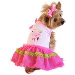 View Image 1 of Flamingo and Palm Tank Designer Dog Dress by Doggie Design