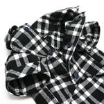 View Image 4 of Flannel Button Down Dog Shirt by Dogo - Black