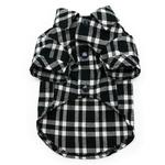 View Image 3 of Flannel Button Down Dog Shirt by Dogo - Black