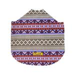 View Image 3 of Fleece Dog Poncho by Poocho - Aztec Purple