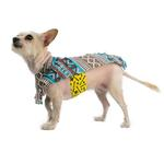 View Image 2 of Fleece Dog Poncho by Poocho - Aztec Teal
