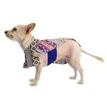 View Image 2 of Fleece Dog Poncho by Poocho - Aztec Purple