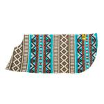 View Image 4 of Fleece Dog Poncho by Poocho - Aztec Teal