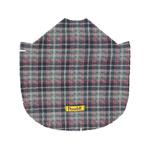 View Image 3 of Fleece Dog Poncho by Poocho - Grey Plaid with Bow