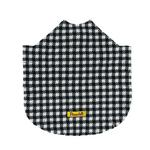 View Image 3 of Fleece Dog Poncho by Poocho - Houndstooth with Bow