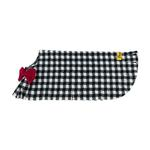 View Image 4 of Fleece Dog Poncho by Poocho - Houndstooth with Bow