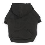 View Image 1 of Fleece Lined Dog Hoodie by Zack & Zoey - Black