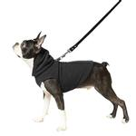 View Image 4 of Fleece Vest Hoodie Dog Harness by Gooby - Black
