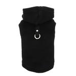 View Image 7 of Fleece Vest Hoodie Dog Harness by Gooby - Black